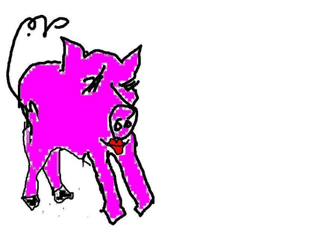 Pig with lipstick  2